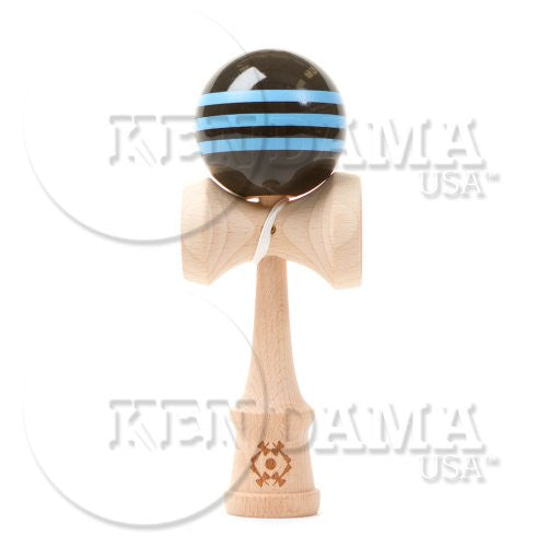 Tribute-Black with 3 light blue stripes