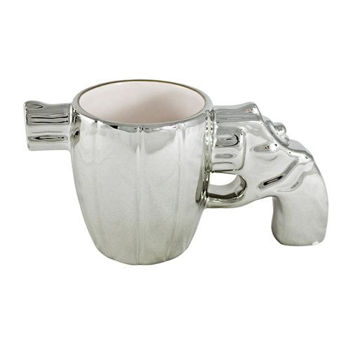 Chrome Gun Pistol Coffee Mug