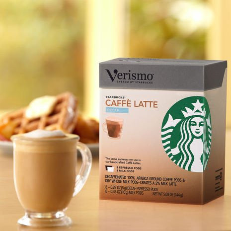 Starbucks® Decaf Café Latte Verismo™ Pods