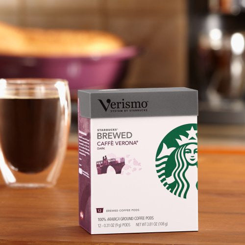 Starbucks® Caffè Verona brewed coffee VerismoTM, 12 Pods
