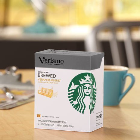 Starbucks® Veranda BlendTM brewed coffee VerismoTM 12 Pods 3.81OZ(108g)