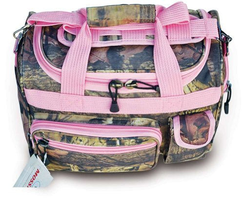 "13""  Mossy Oak pink trim bag"