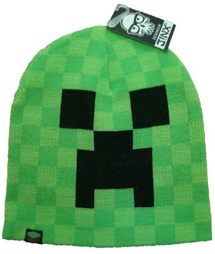 Minecraft Creeper Laplander Beanie Hat Large / XL . Official Product From Mojang