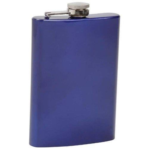 8OZ STAINLESS STEEL FLASK-BLUE 8OZ STAINLESS STEEL FLASK-BLUE