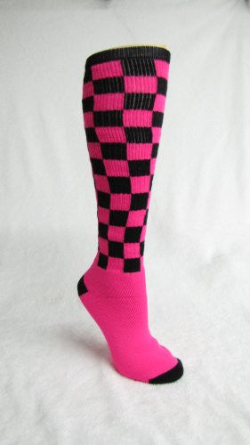 Checkerboard, Black/Flo. Pink