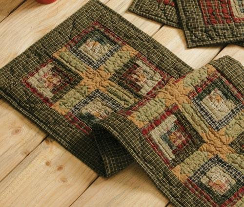 Tea Cabin Runner Quilted 13x36""