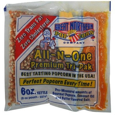 1 Case (24) of 6 Ounce Popcorn Portion Packs Kit Cinema