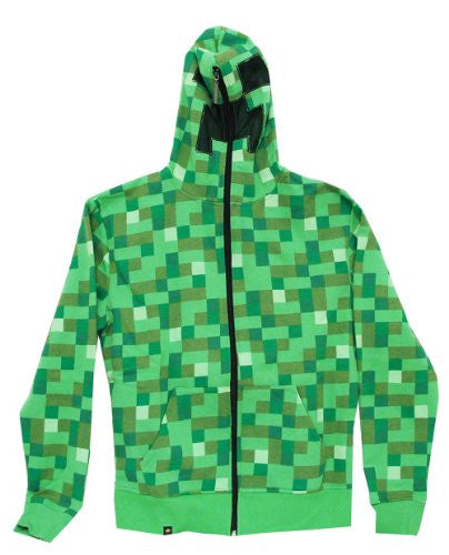 Minecraft Creeper Premium Zip-up Hoodie, Large
