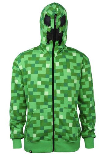 Minecraft Creeper Premium Zip-up Hoodie, Medium