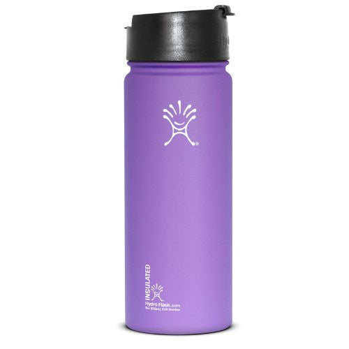 Hydro Flask Insulated Stainless Steel Water Bottle Wide Mouth with Hydro Flip Lid, 18-Ounce