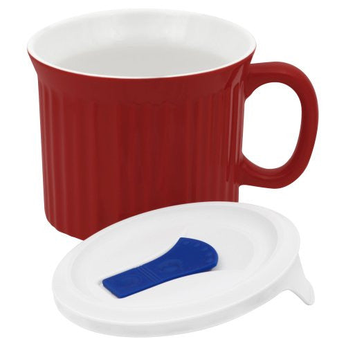 CorningWare 20 oz. Red Mug With Lid