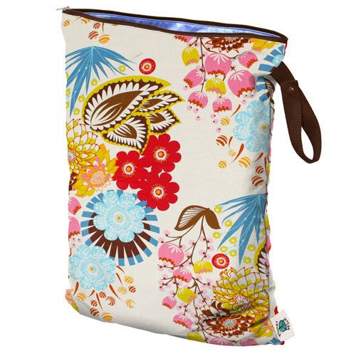 Planet Wise Wet Diaper Bag, April Flowers, Large