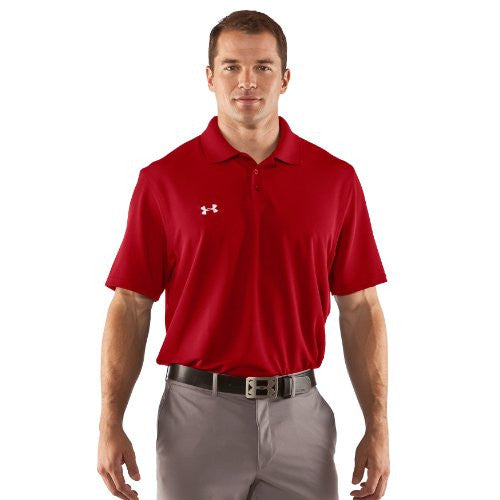 Men's Performance Golf Polo - Red, Medium