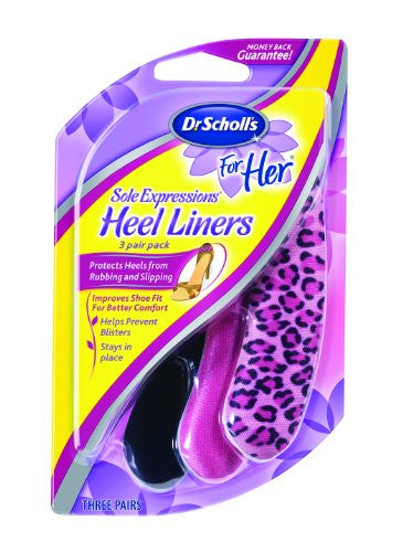For Her Sole Expressions Heel Liner 3pk