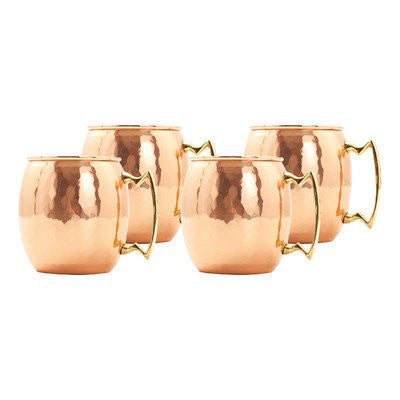 16 oz. Hammered Solid Copper Moscow Mule Mug  (L,NL,CBH)