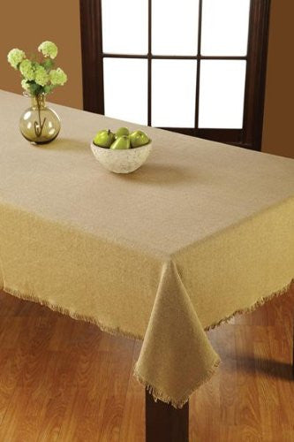 Burlap Natural Table Cloth 60x80""