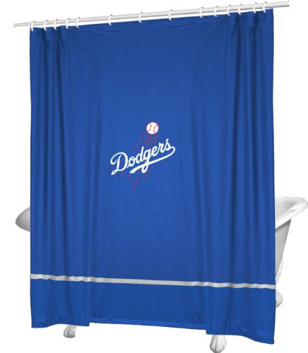 SIDELINES SHOWER CURTAIN Los Angeles Dodgers - Color Bright Blue - Size 72x72