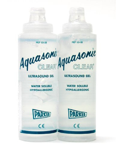 AQUASONIC CLEAR ULTRASOUND GEL 0.25 liter dispenser (1 dozen per box)