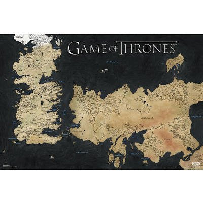 Game of Thrones Horizontal Map TV Poster Print - 36x24