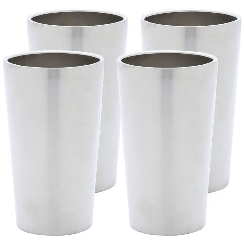 Maxam® 4pc Double Wall 13oz Stainless Steel Tumbler Set