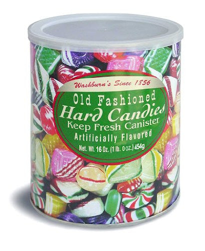 Washburn's Old Fashioned Hard Candy 16 Oz Canister