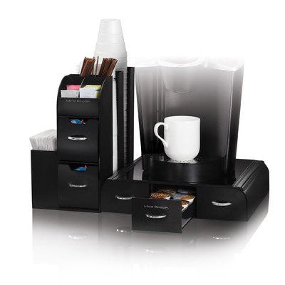 "Mind Reader ""Combine"" 2-Piece Coffee and Accessory Station, Black"