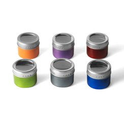 6 Piece Colored Empty Magnetic Storage Tins