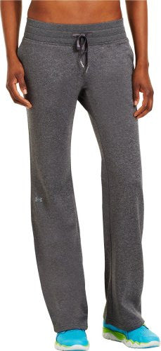 "UA Women's Fleece Storm 32"" Pant - Carbon Heather, Medium"