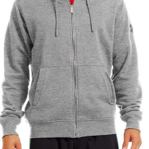 Charged Cotton Storm Full Zip Hoodie - True Gray Heather, Small