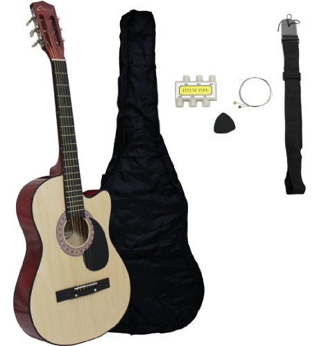 "38"" Acoustic Cutaway Guitar Starter Kit (Colour-Natural)"