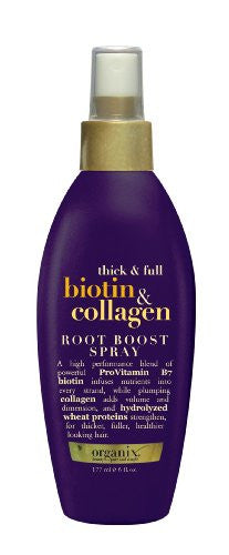 Organix Biotin & Collagen Root Boost Spray 6oz Pump