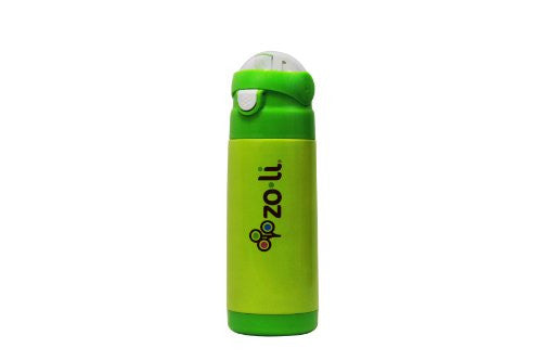 Zoli Dash Vacuum 12 oz Insulated Straw Drink Bottle, (Color: Green)