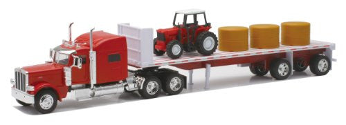 NewRay Trucks 1:32 Scale Flatbed, Pot belley, Dry Bulk Live Stock Big Rigs Diecast Trucks and Hauler With Plastic Parts