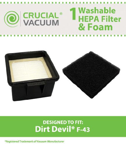 F43 FILTER AND FOAM FILTER MADE TO FIT DIRT DEVIL