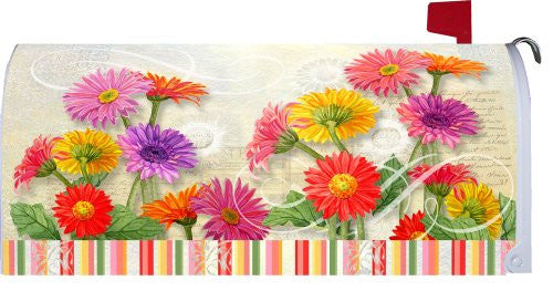 Welcome Gerberas 1513MM Spring Flowers Magnetic Mailbox Cover Wrap