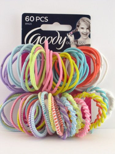 Girls Ouchless Assorted Elastics