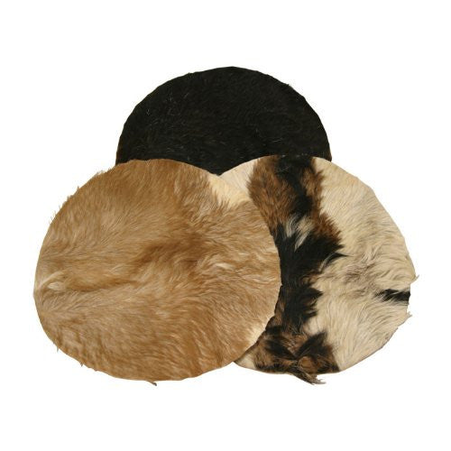 "Goatskin, 14"" with Hair, Thick (Package Of 2)"
