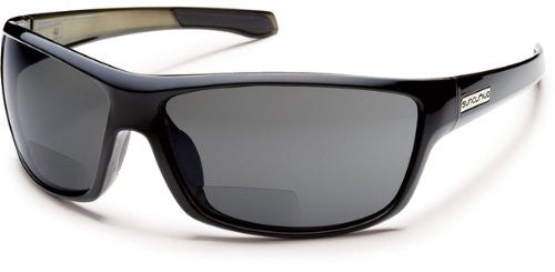 Conductor Black Backpaint with +2.50 Gray Polarized Polycarbonate Lens