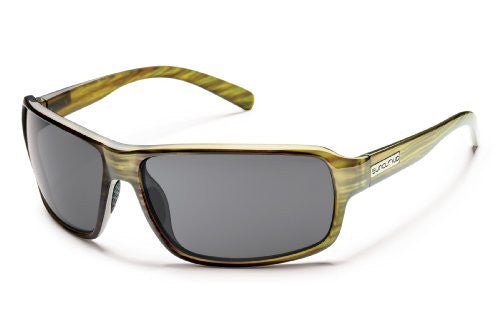Tailgate Green Stripe with Gray Polarized Polycarbonate Lens