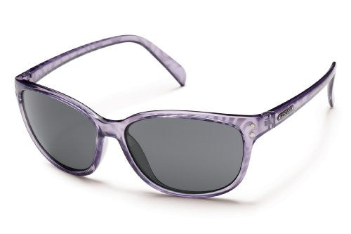Flutter Lavender Print with Gray Polarized Polycarbonate Lens