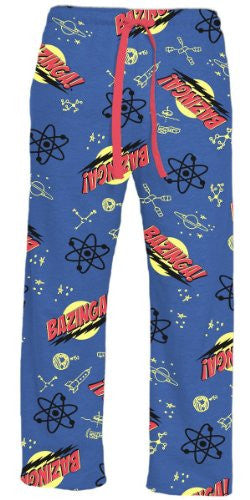 Big Bang Theory Bazinga! Blue Lounge Pants (large)
