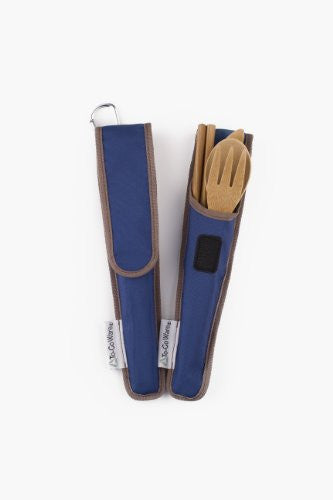 To-Go Ware RePEaT Bamboo Utensil Set (Color: Indigo)