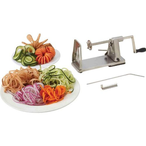 Maxam® Stainless Steel Vegetable Spiral Slicer
