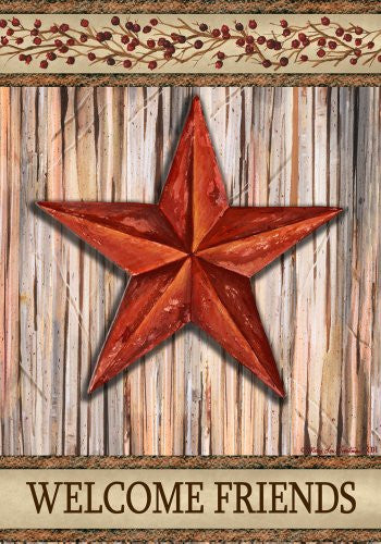 Custom Decor Country Garden Flag Rustic Star