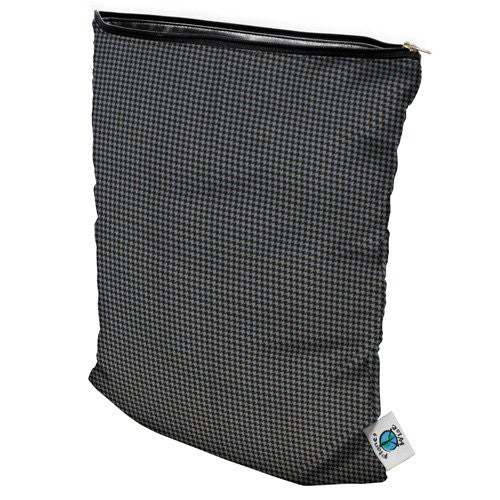 Planet Wise Wet Diaper Bag, Gray Houndstooth, Medium