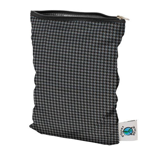 Planet Wise Wet Diaper Bag, Gray Houndstooth, Small