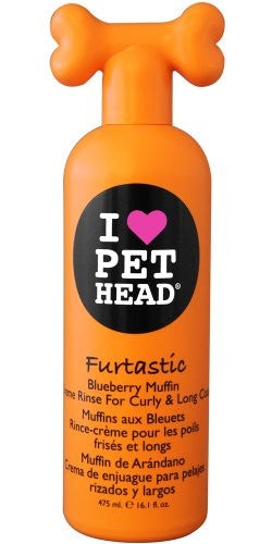 FURTASTIC Blueberry Muffin Creme Rinse For Curly & Long Coat, 16.1oz