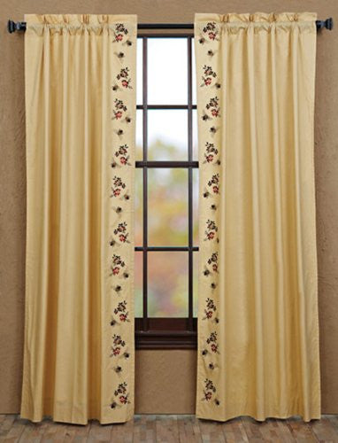 Cambrie Lane Panel Bees Lined Set of 2 84x40""
