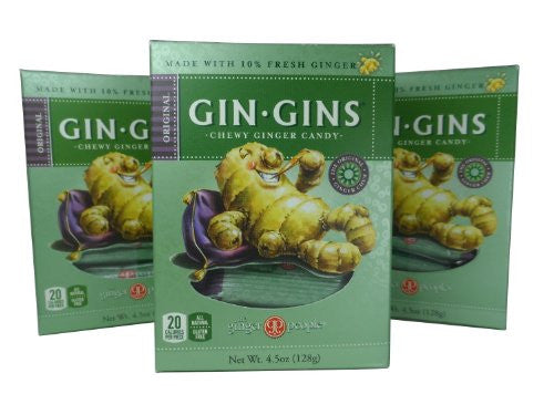 90145 Gin Gins Original Chewy Ginger Candy Box 4.5 oz