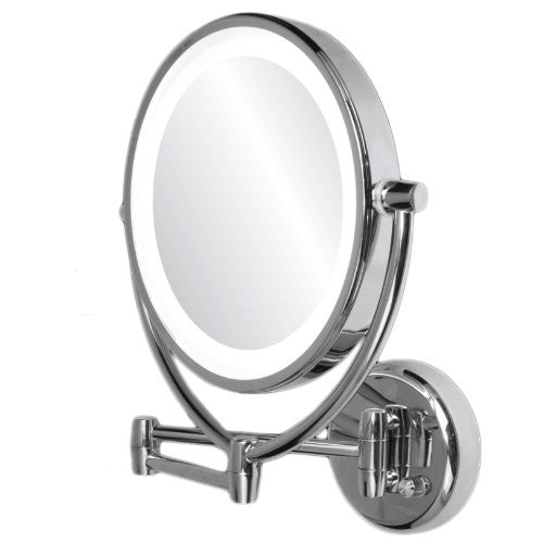 1x/10x Dimmable Dual Sided Lighted Wall Mirror